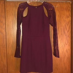 TOBI Bodycon Formal Burgundy Dress